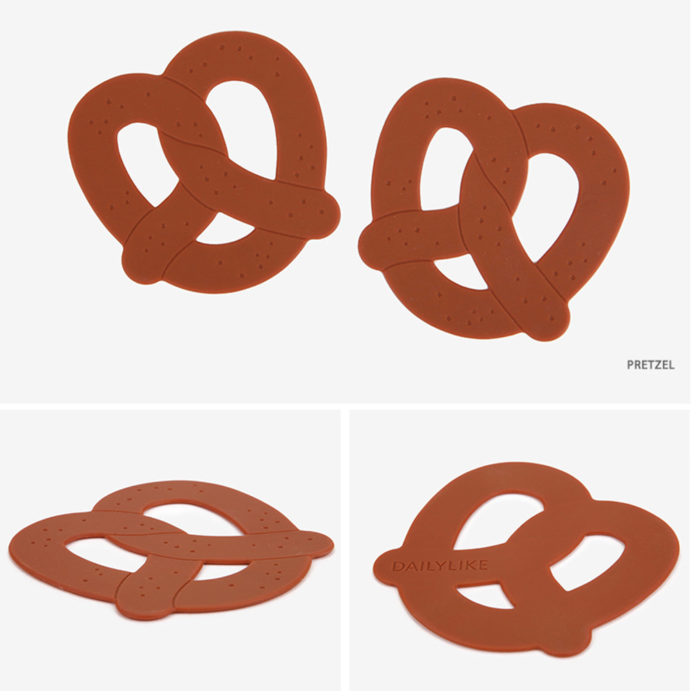 Pretzel - Dailylike Enjoy your kitchen silicon drink coaster set