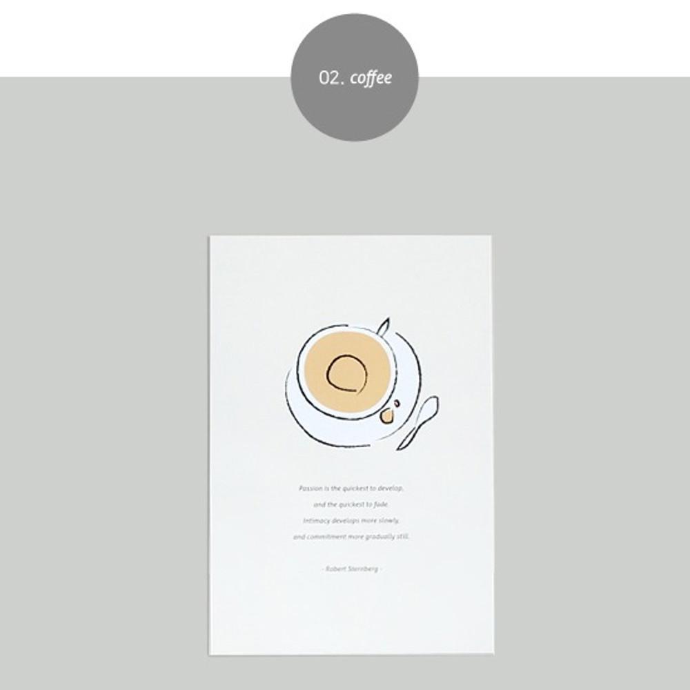 Coffee - Dash and Dot Ordinary illustration message postcard