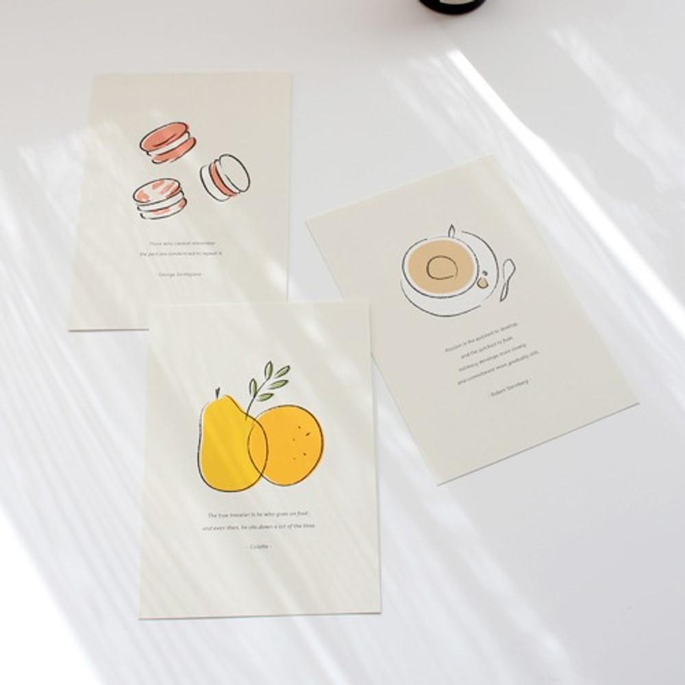 Dash and Dot Ordinary illustration message postcard