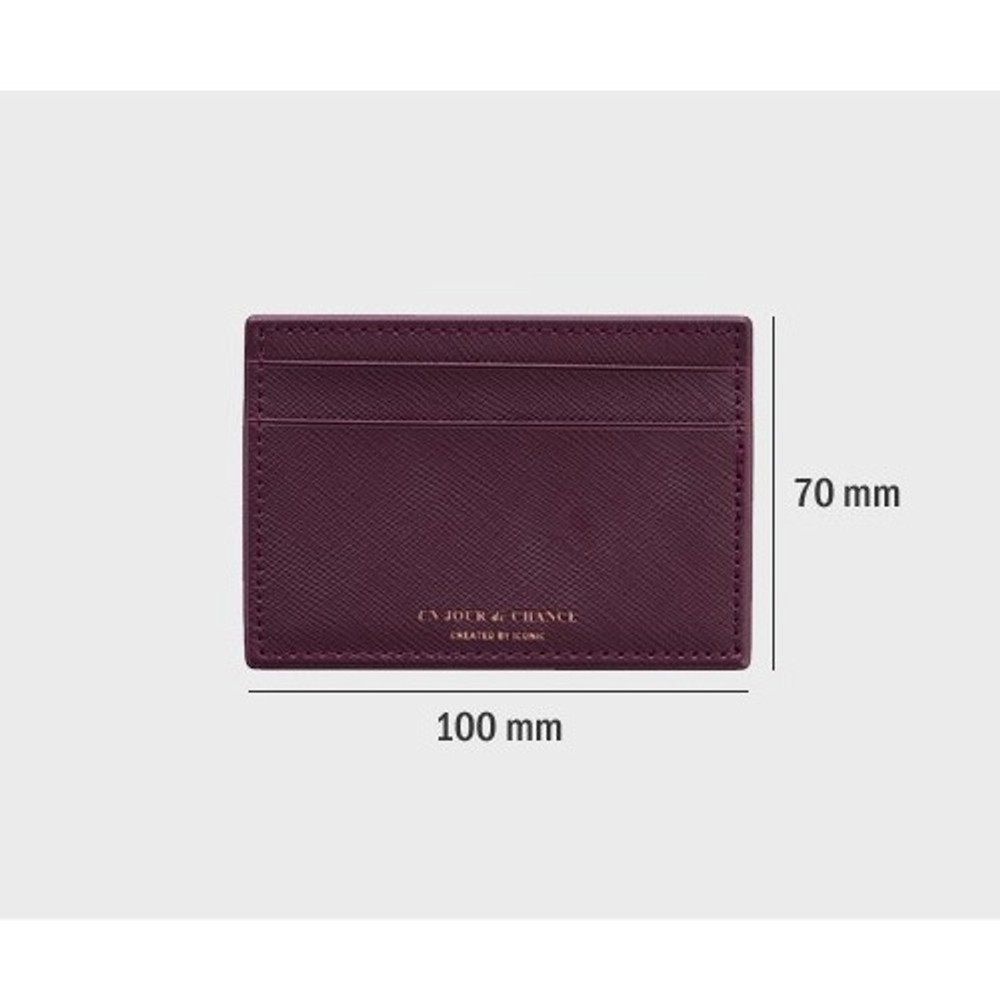 Size - ICONIC Un jour de chance flat card case holder