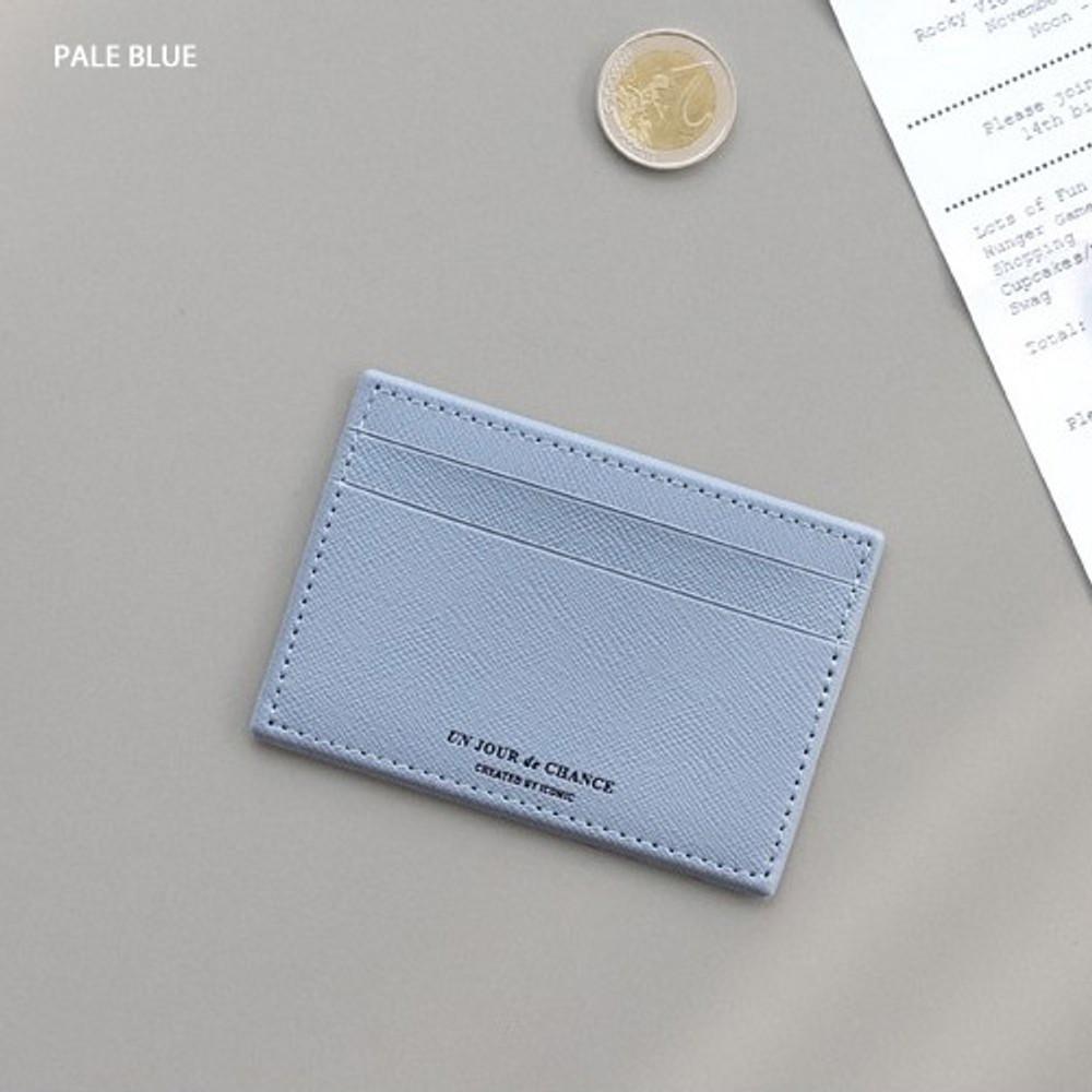 Pale blue - ICONIC Un jour de chance flat card case holder