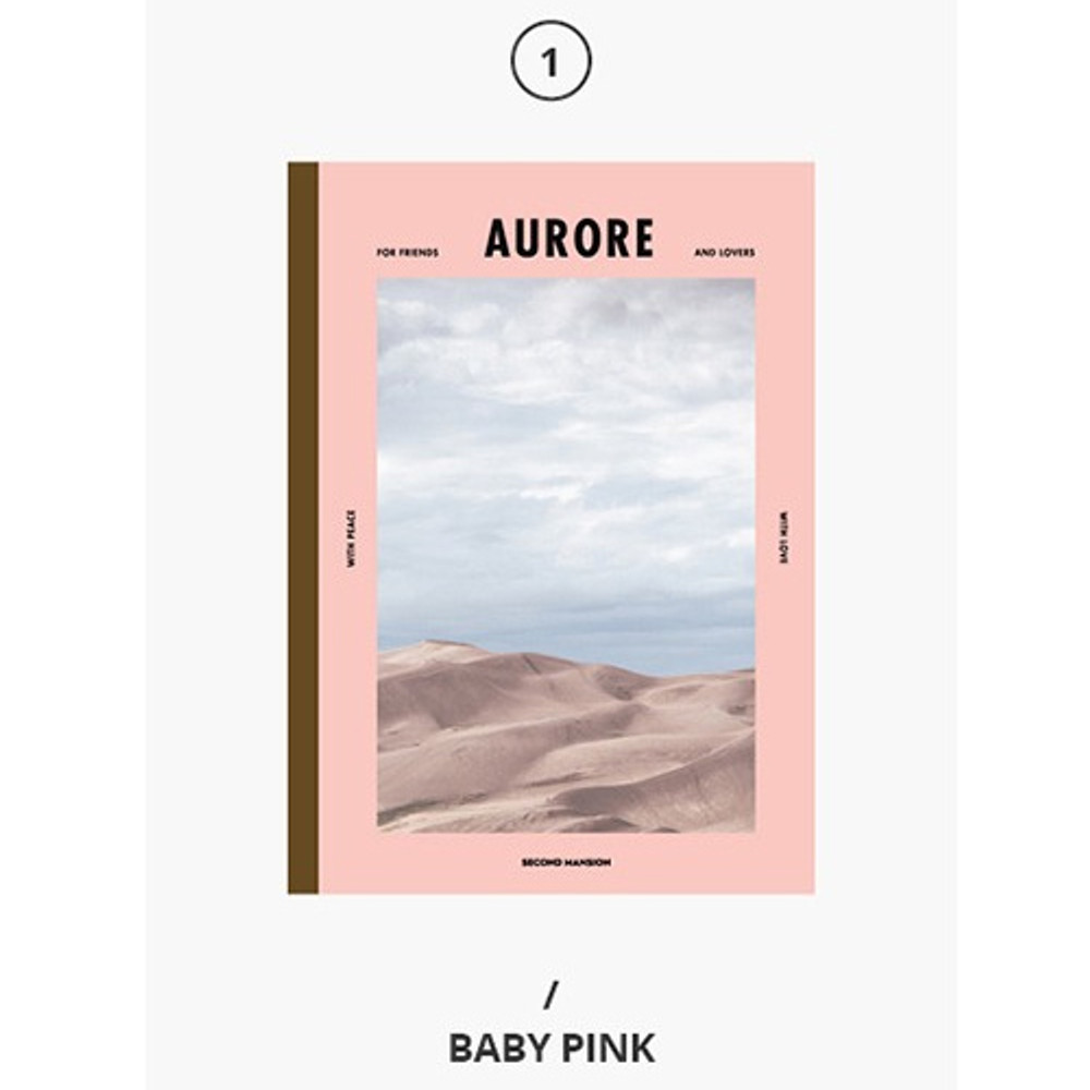 Baby pink - Second Mansion Colorful B5 size grid-lined class notebook ver2