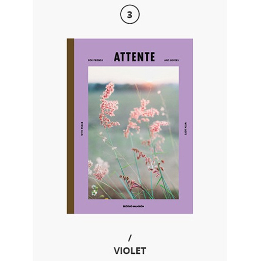 Violet - Second Mansion Colorful B5 size grid-lined class notebook ver2
