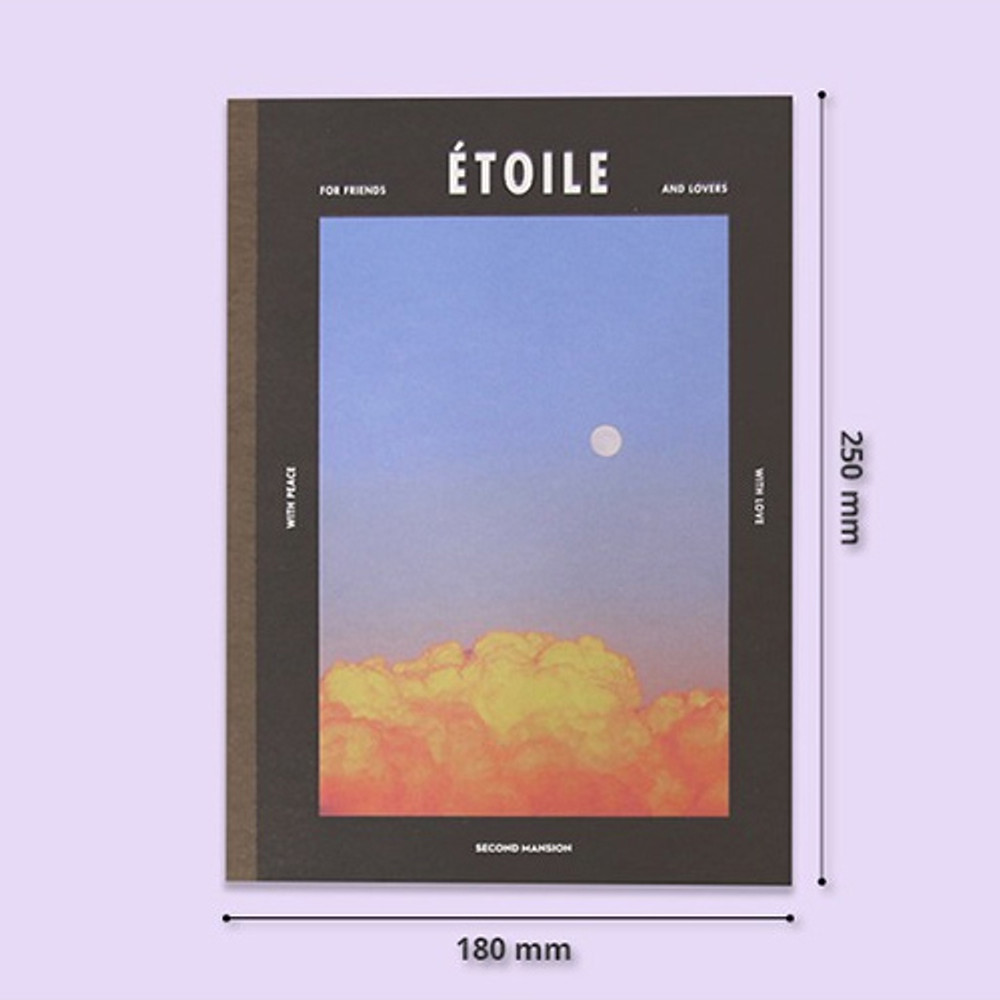 Size - Second Mansion Colorful B5 size grid-lined class notebook ver2