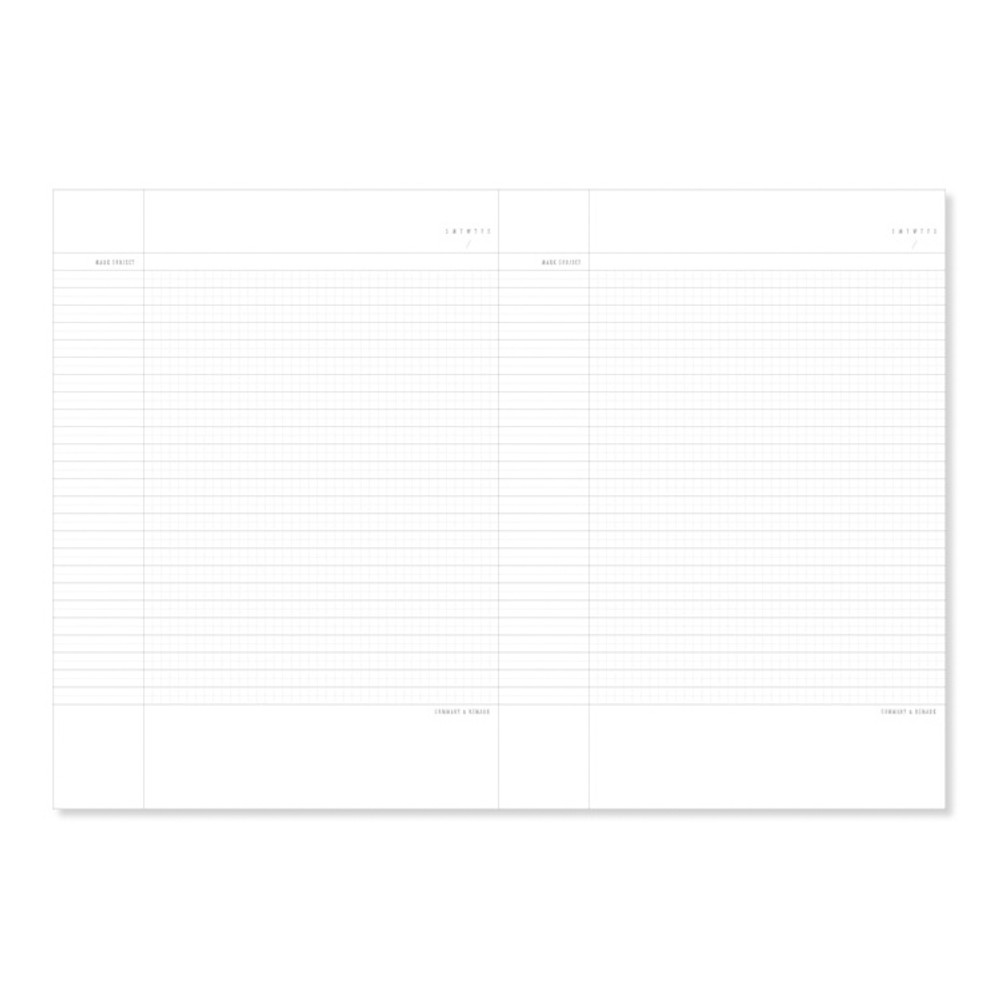 Grid and Lined notebook