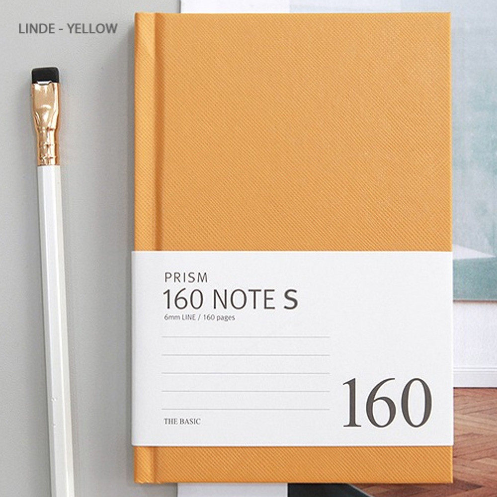 Yellow - Indigo Prism 160 pages small lined grid notebook