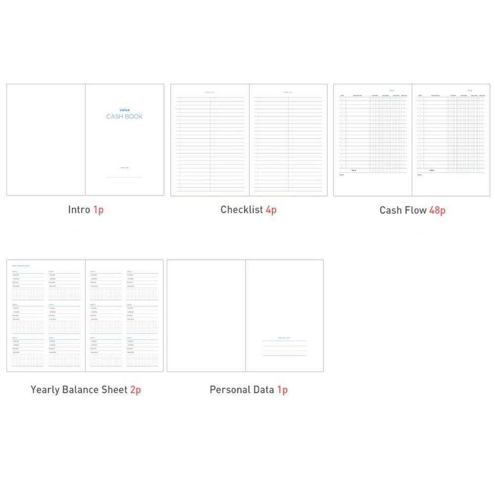 Composition - PAPERIAN Value simple cash book planner scheduler
