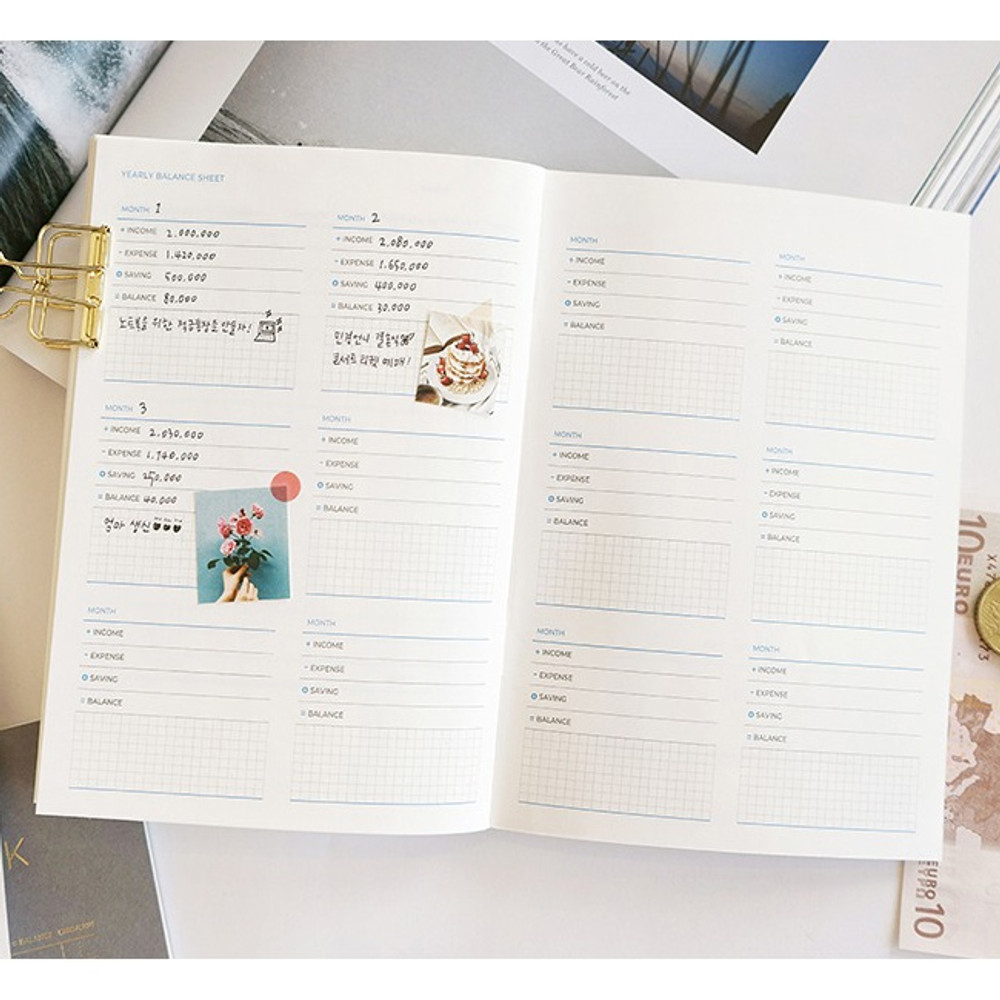 Yearly balance sheet - PAPERIAN Value simple cash book planner scheduler
