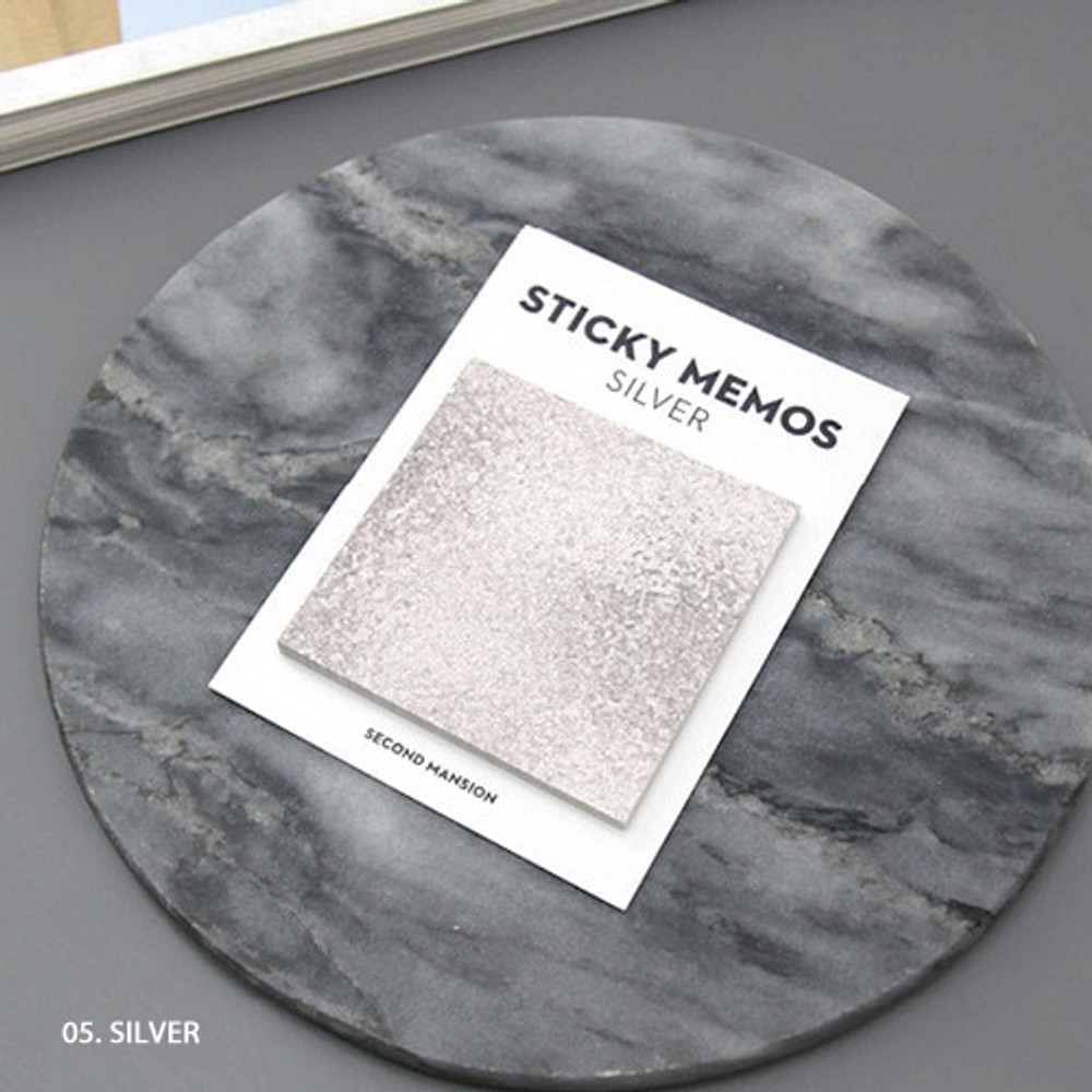 Silver - Second Mansion Memos sticky it memo note