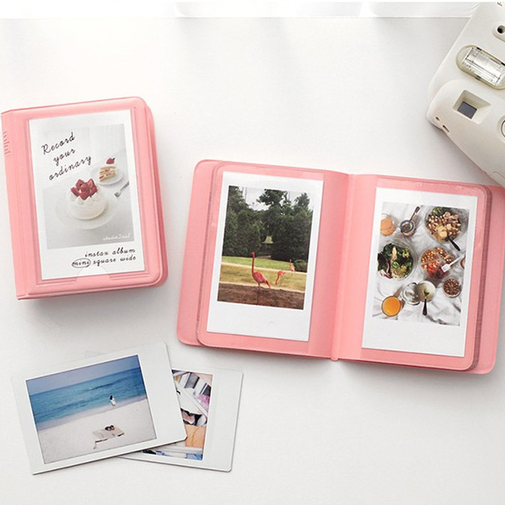 Indi pink - 2NUL Colorful Instax mini small slip in pocket photo album