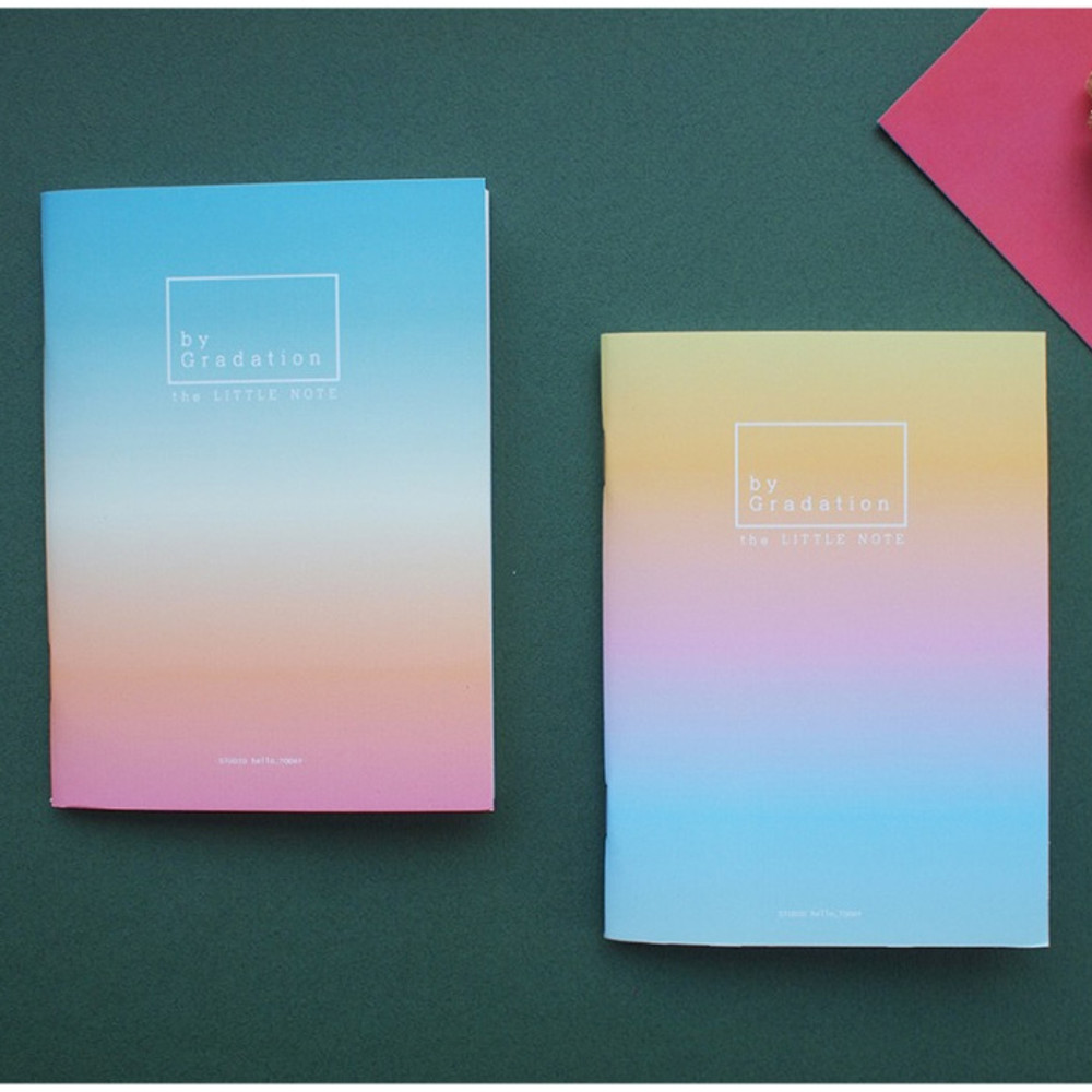 Hello Today Gradation small plain and lined notebook