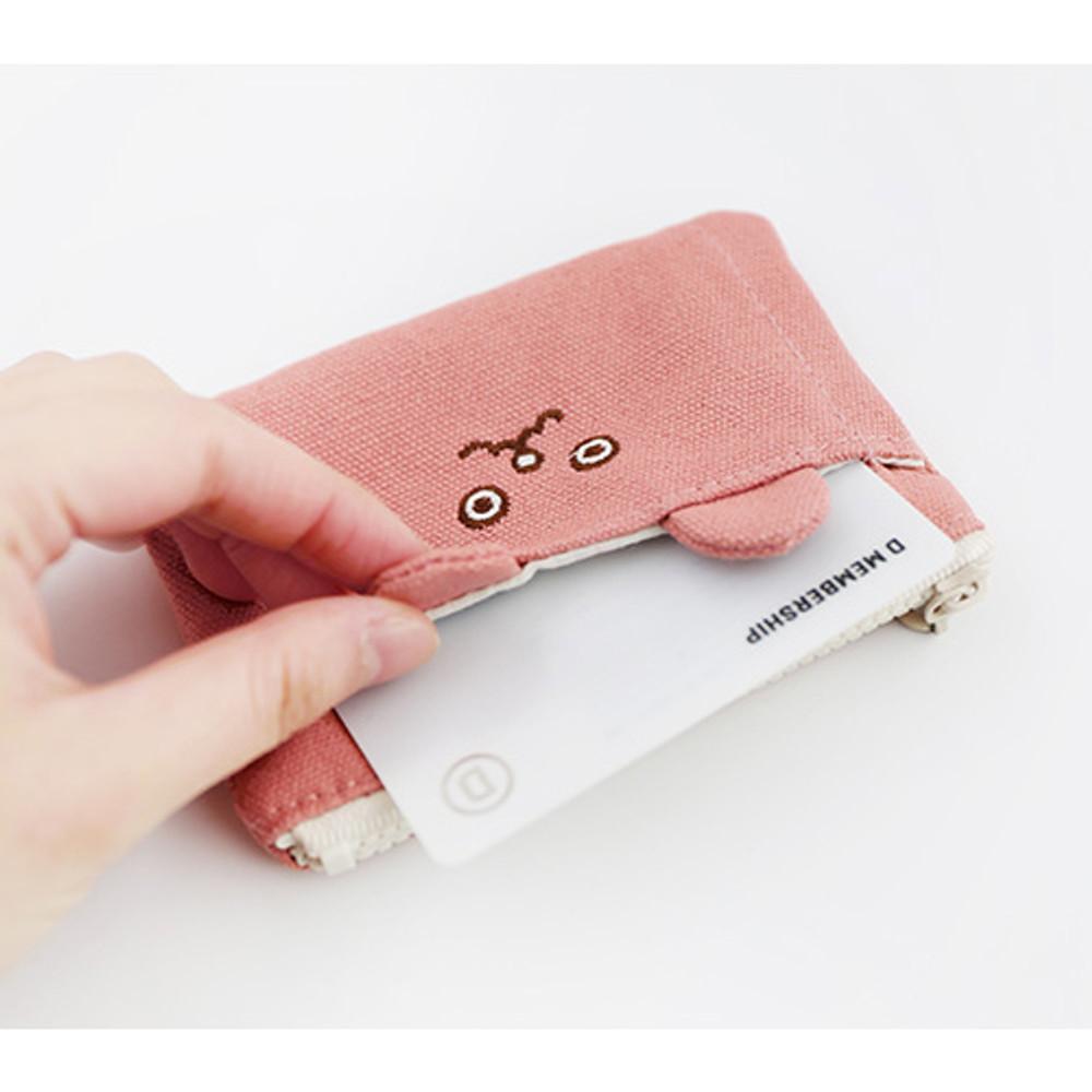 Brunch brother doll zipper card case