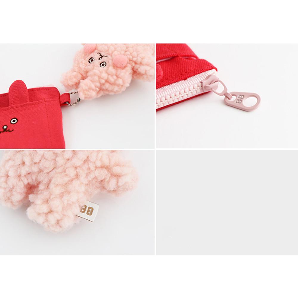 Detail of Brunch brother doll zipper card case