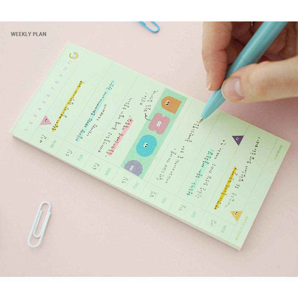 Weekly plan - Memory planning notepad