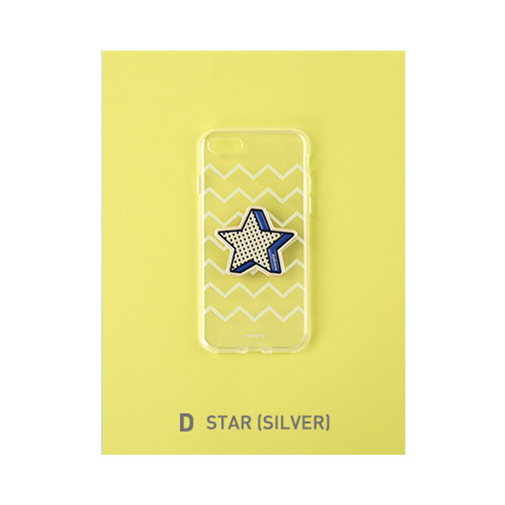 D - star - Leather sticker clear TPU jelly case for iPhone 7