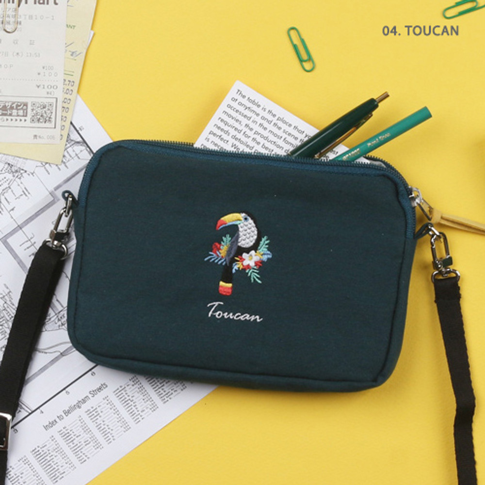 Toucan - Tailorbird pastel side crossbody bag