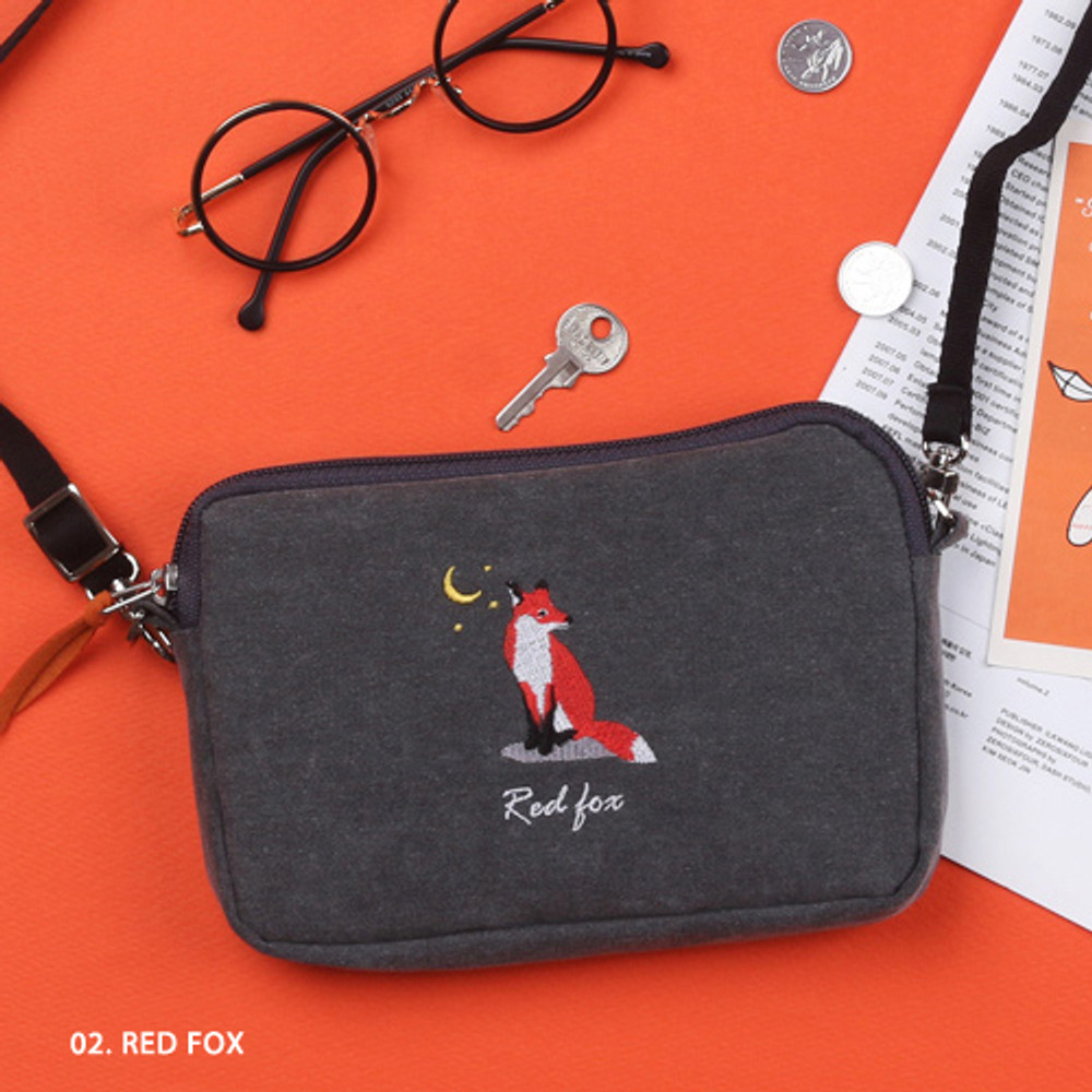 Red fox - Tailorbird pastel side crossbody bag