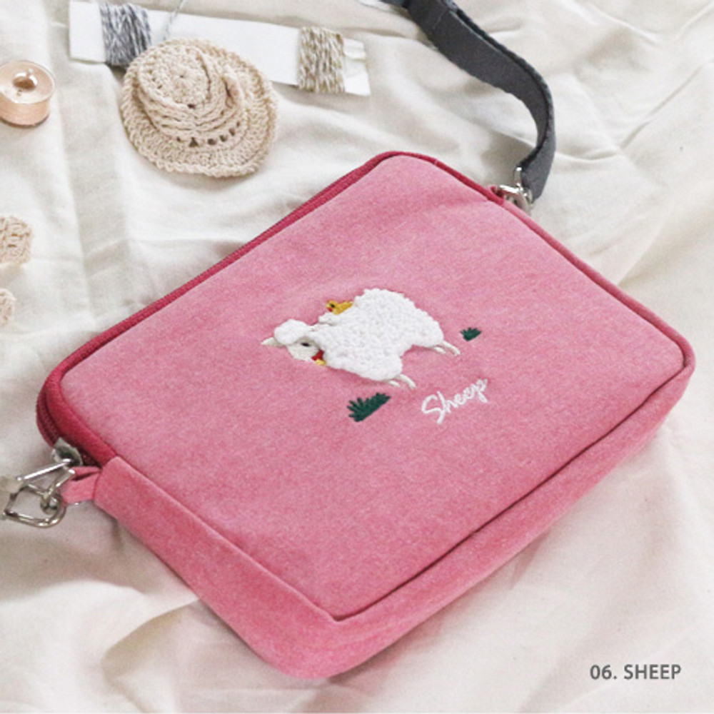 Sheep - Tailorbird pastel side crossbody bag