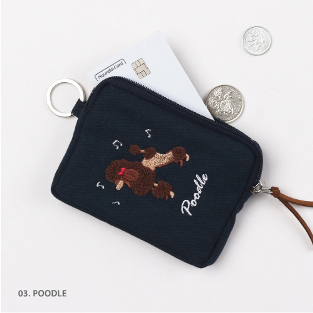 Poodle - Wanna This Tailorbird pastel card case wallet