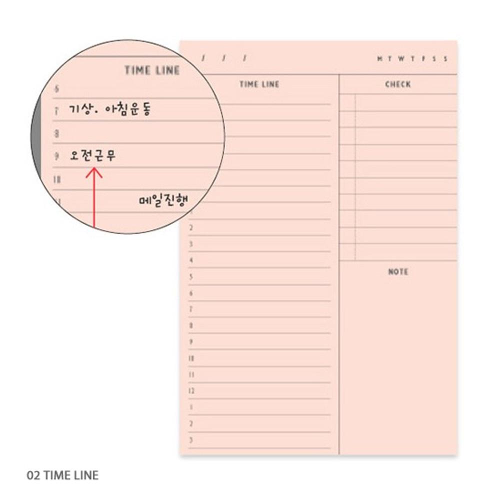 Timeline - Second mansion planning memo notepad