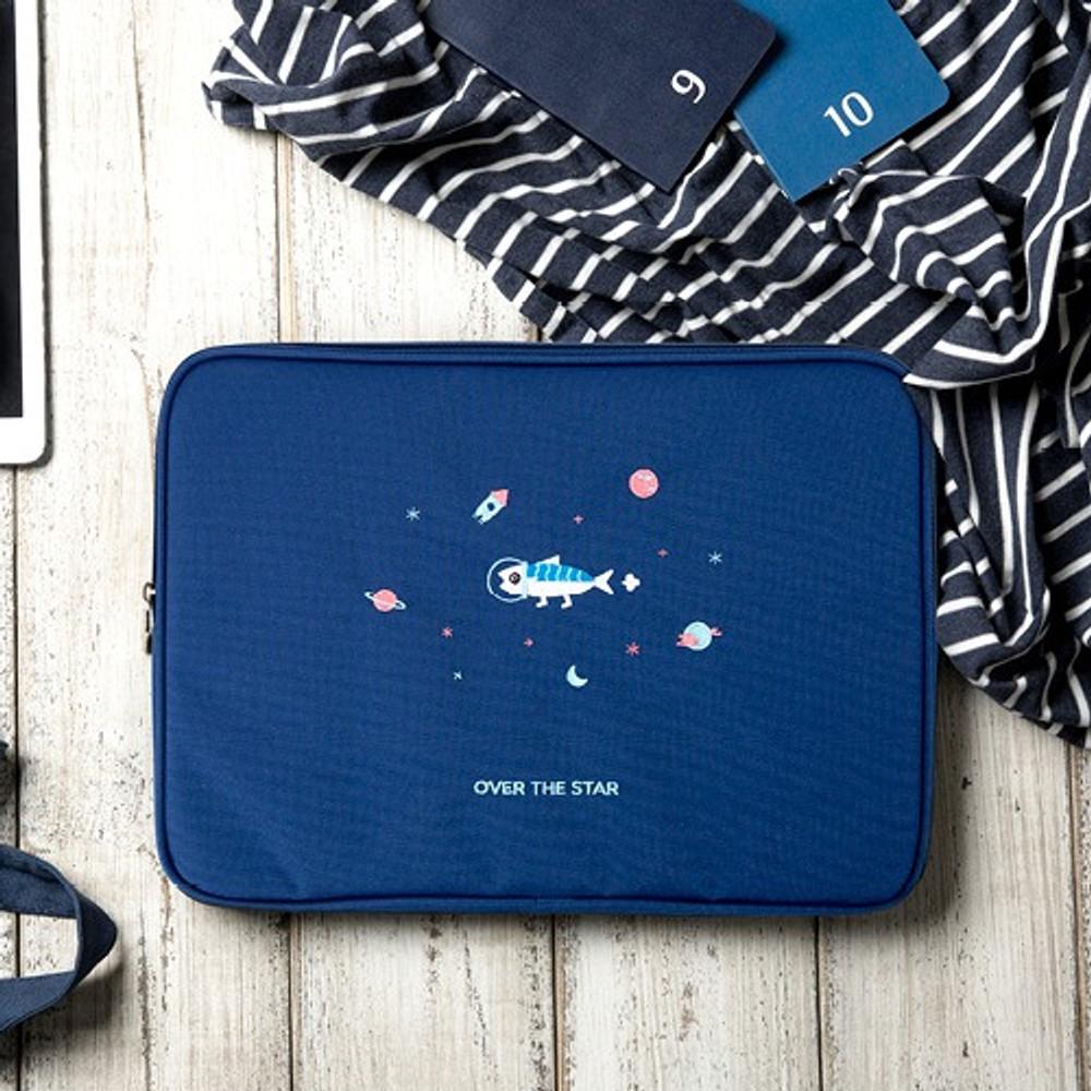 Navy - DESIGN IVY Ggo deung o eco friendly 13 inches laptop pouch case