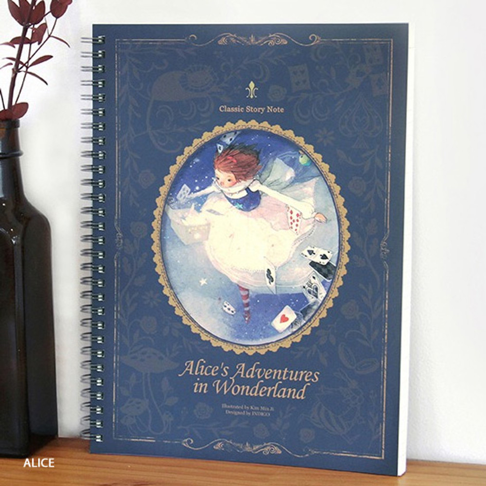 Alice - Indigo Classic story spiral bound lined notebook