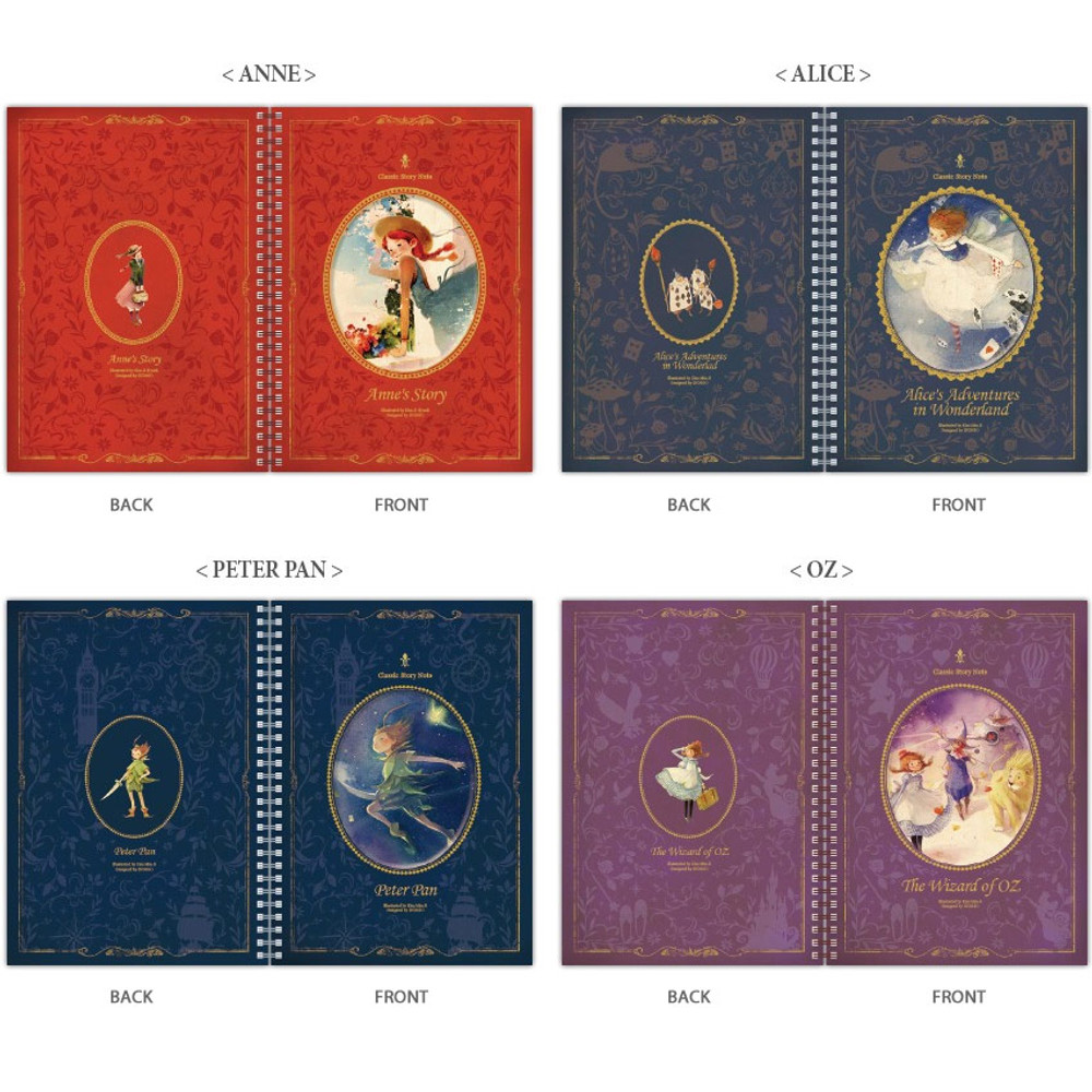 Option - Indigo Classic story spiral bound lined notebook