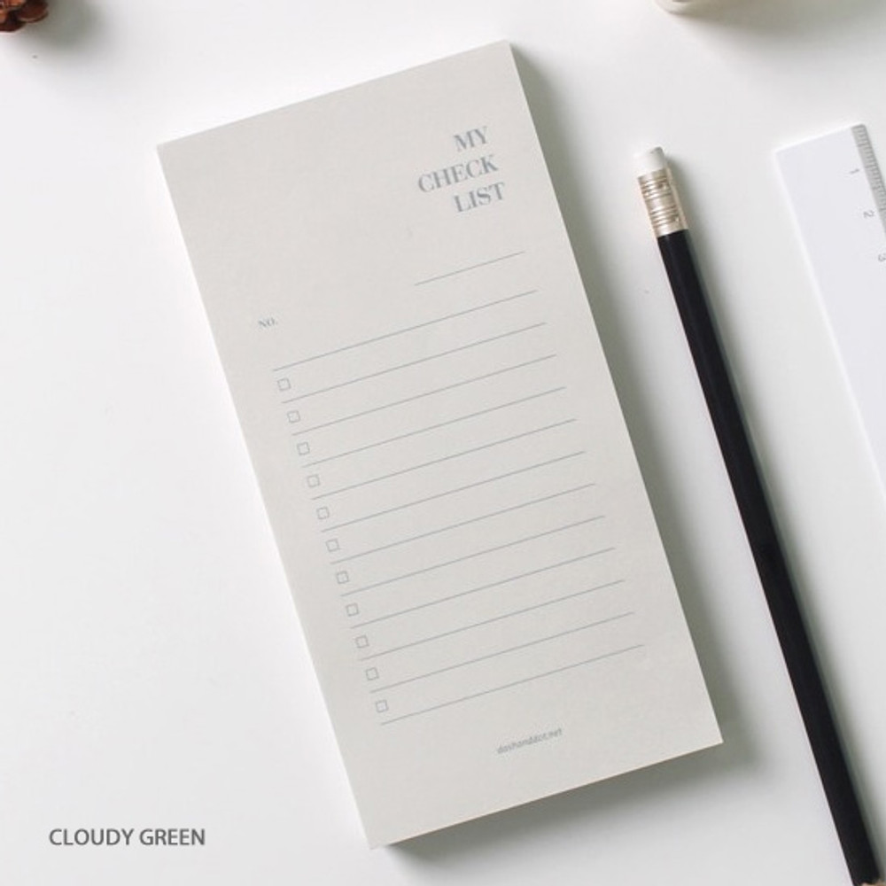 Cloudy  green - Dash and Dot My checklist notepad