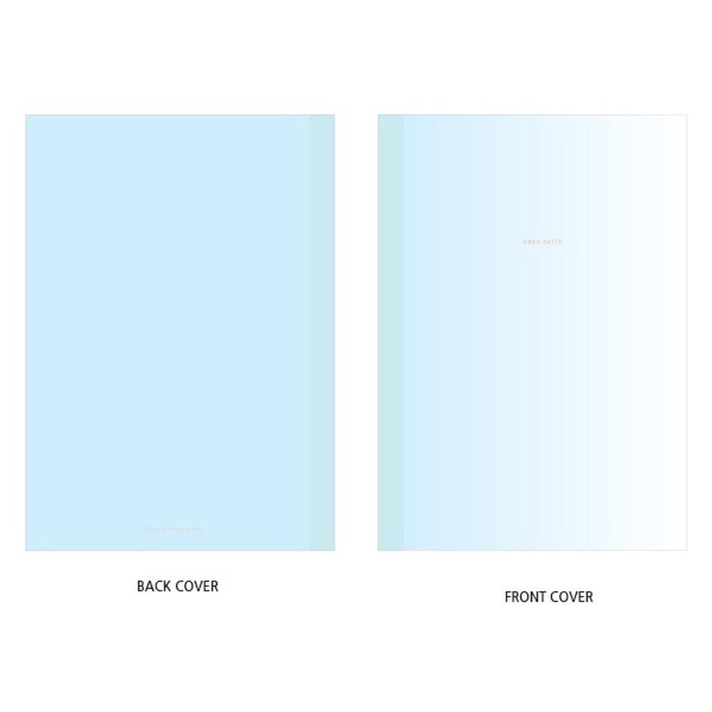 Cover - Blue gradation large plain notebook