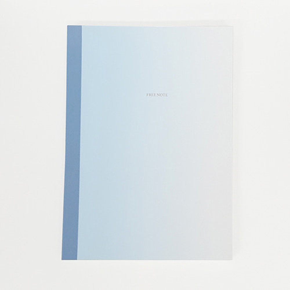 Blue gradation large plain notebook
