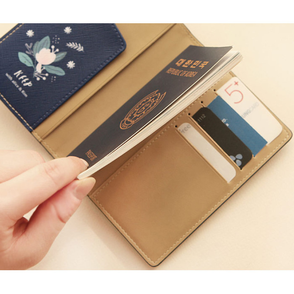 Rim with you pattern passport cover case holder