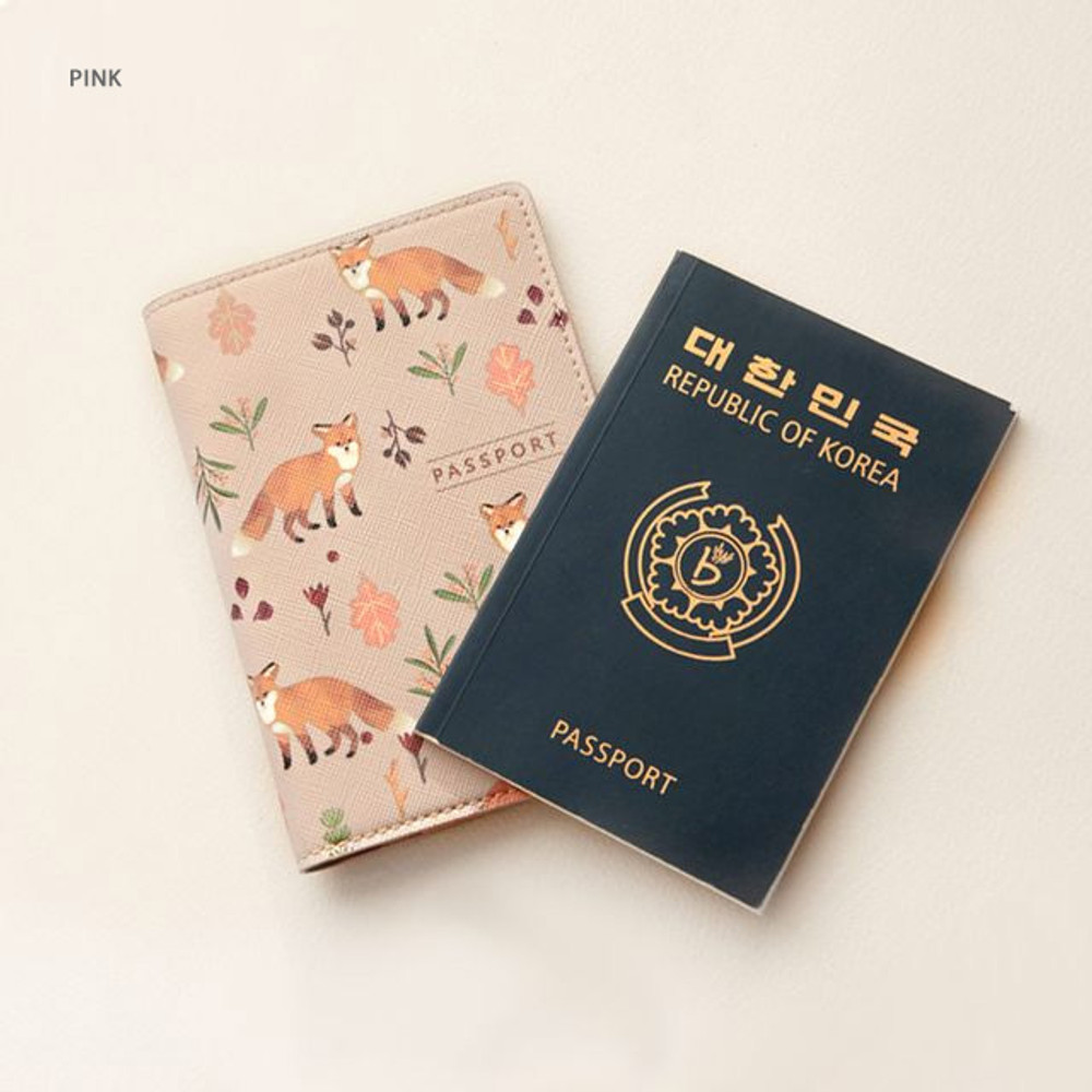 Pink - Rim with you pattern passport cover case holder