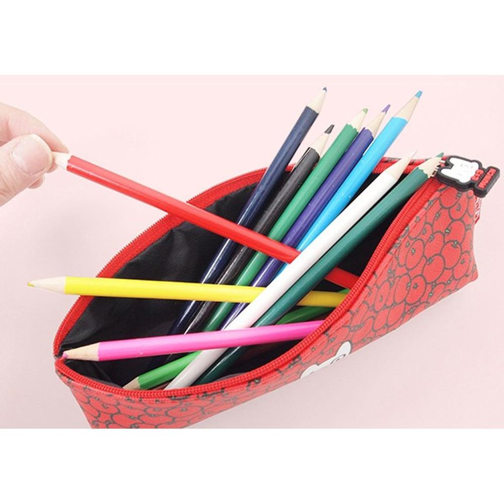 2Young Munch triangle zipper pencil case