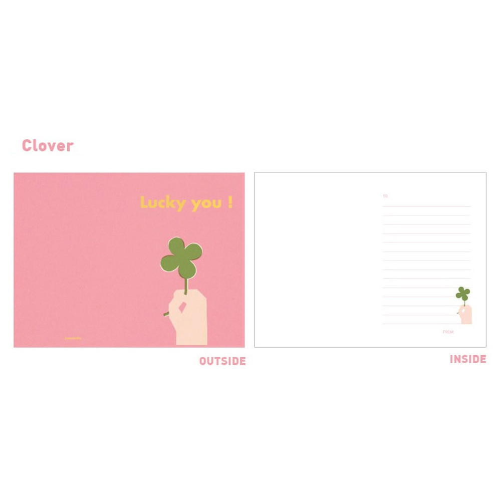 Clover - Jam studio Jam birthday card with envelope