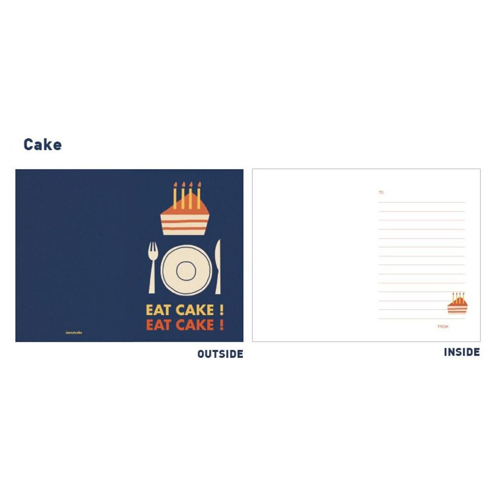 Cake - Jam studio Jam birthday card with envelope