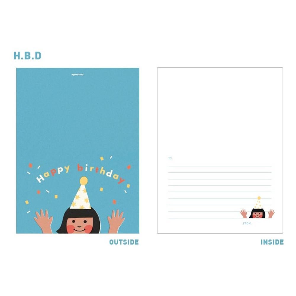 H.B.D. - Jam studio Jam birthday card with envelope