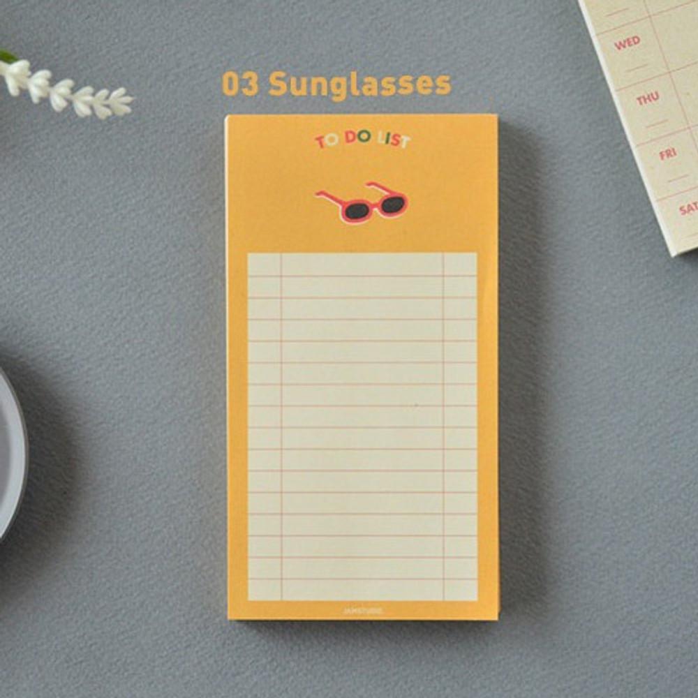 Sun glass - Jam studio Jam to do list notepad