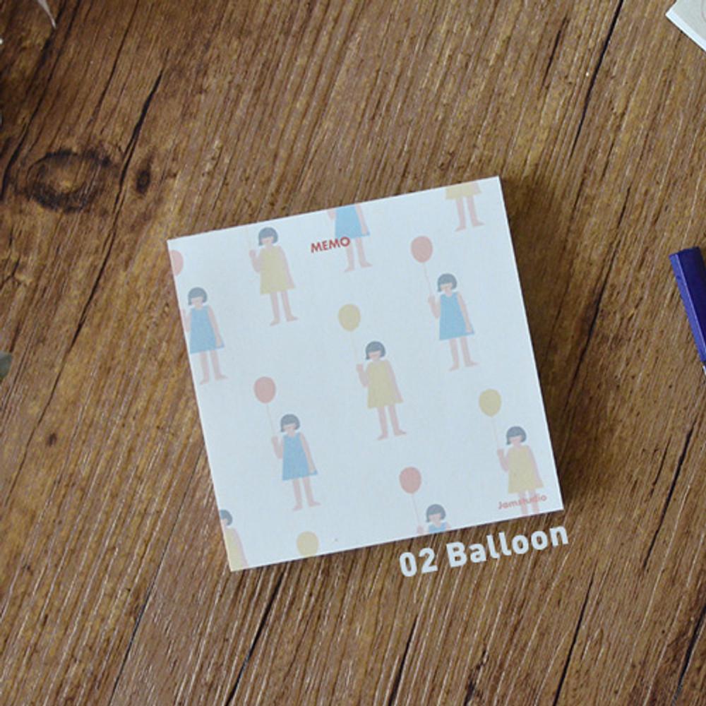 Balloon - Jam studio Jam memo notepad
