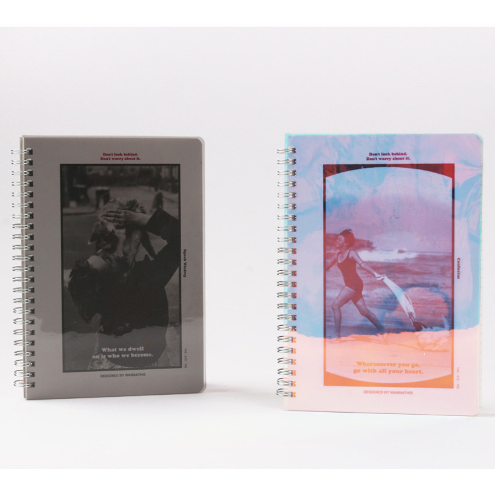 Wanna This Clear spiral lined notebook