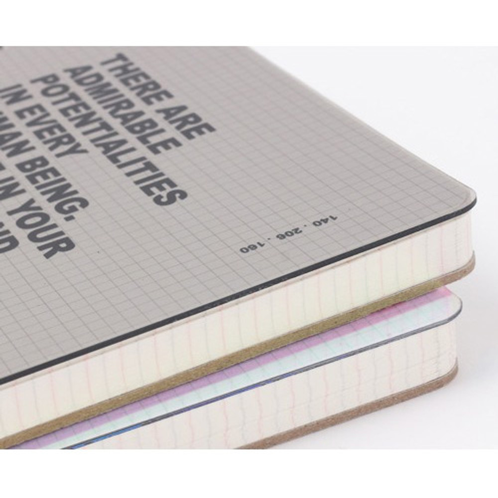Thick backboard - Wanna This Clear spiral grid notebook