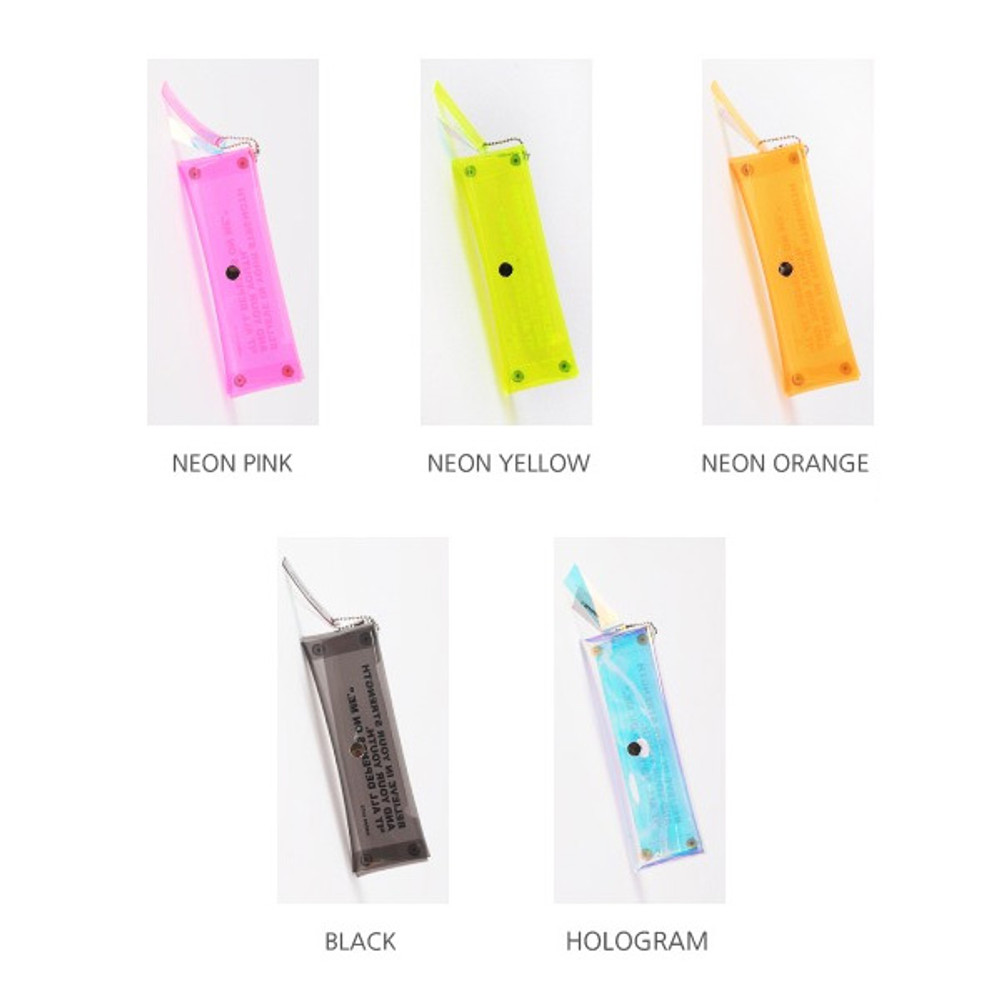 Color - Wanna This Clear pocket folding pencil case pouch
