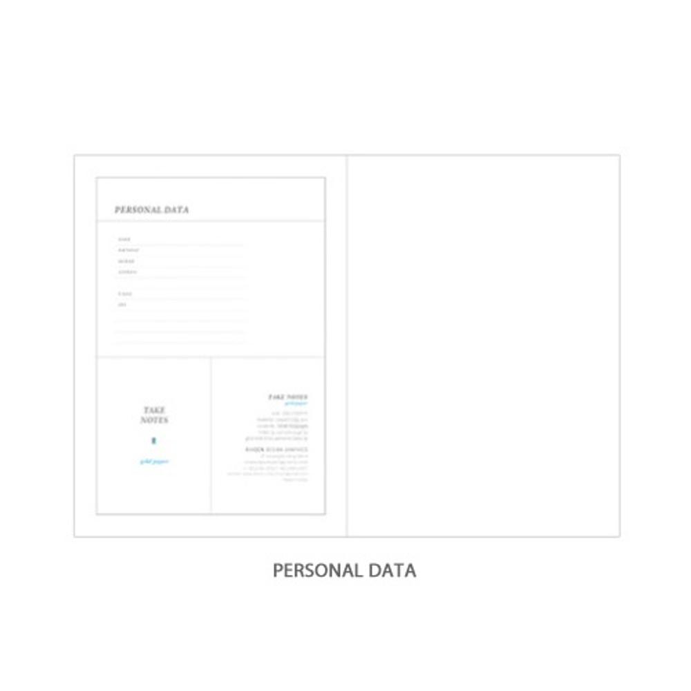 Personal data - Rihoon Take notes grid notebook ver2