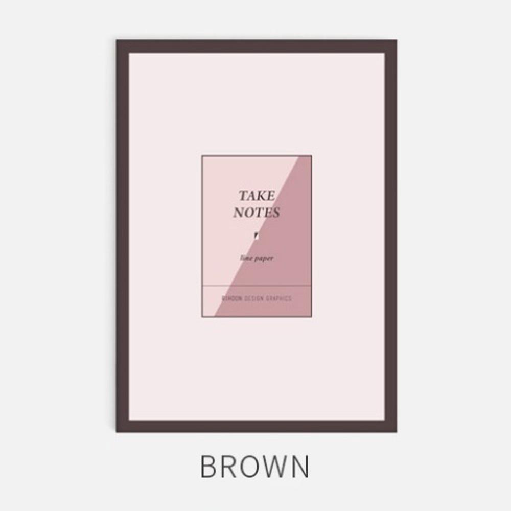 Brown - Rihoon Take notes grid notebook ver2