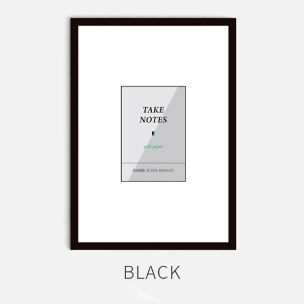 Black - Rihoon Take notes grid notebook ver2