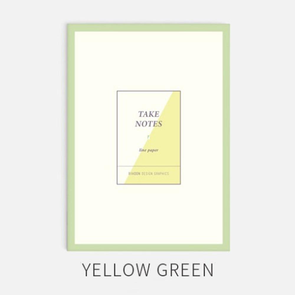 Yellow green - Rihoon Take notes grid notebook ver2