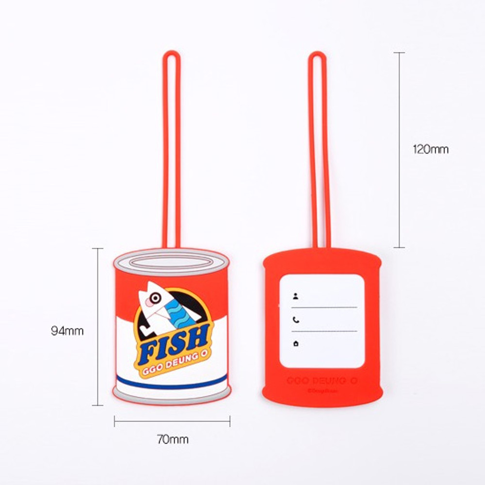 Size - DESIGN IVY Ggo deung o travel luggage name tag