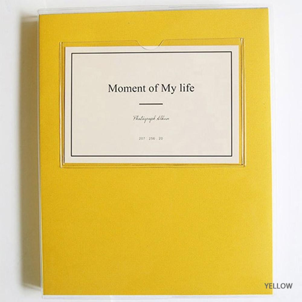 Yellow - Shinzikatoh Moment of my life white self adhesive photo album