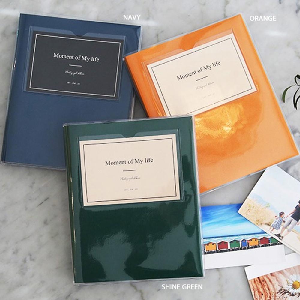 Orange, Navy, Shine green - Shinzikatoh Moment of my life white self adhesive photo album