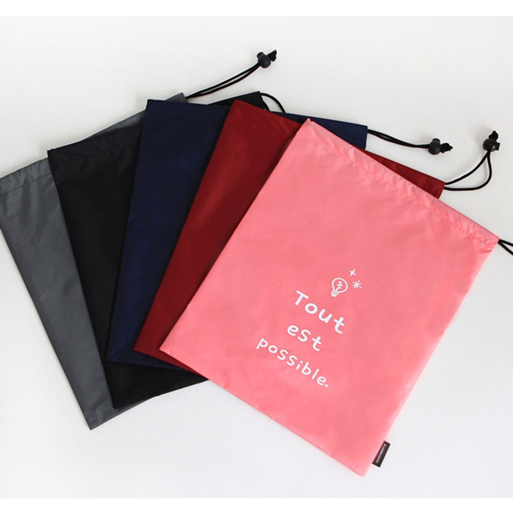 Think about W large drawstring pouch