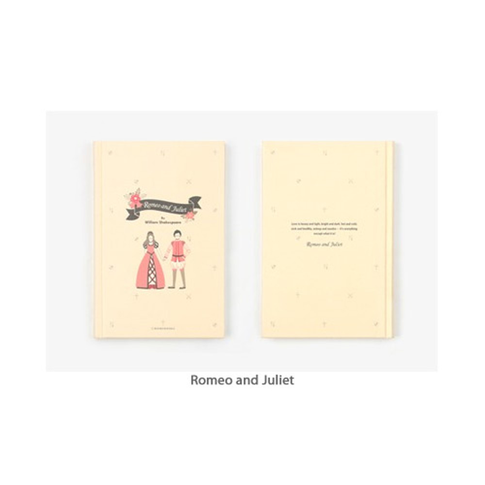 Romeo and Juliet - Bookfriends World literature hardcover lined notebook